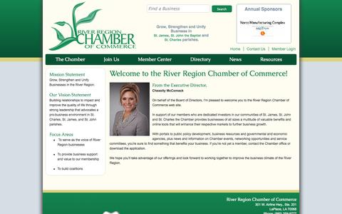 Screenshot of About Page riverregionchamber.org - River Region Chamber of Commerce - About Us - captured Oct. 26, 2014