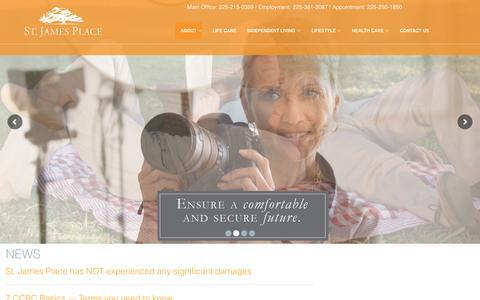Screenshot of Press Page stjamesplace.org - St. James Place | A Life Care Community in Baton Rouge, LA - captured Dec. 1, 2016