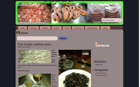 Screenshot of Press Page italianpalate.com - News - Italian Palate - captured Sept. 30, 2014