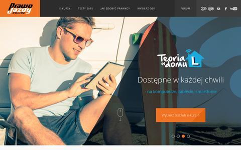 Screenshot of Home Page prawojazdy.com.pl - PrawoJazdy.com.pl - najlepszy e-learning na prawo jazdy - captured Nov. 11, 2015