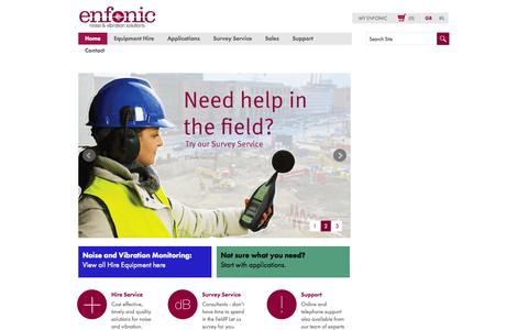 Screenshot of Home Page enfonic.com - Home page - captured Jan. 23, 2015