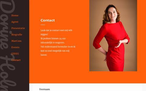 Screenshot of Contact Page dorineholman.nl - Contact - captured Oct. 9, 2018