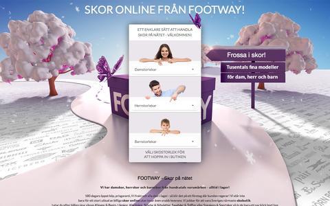 Screenshot of Home Page footway.se - Bekvämt och lätt att köpa skor på nätet | Footway.se - captured Feb. 18, 2016