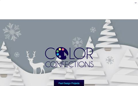 Screenshot of Home Page colorconfections.com - Color Confections - Graphic Design and Marketing Services - captured July 20, 2018