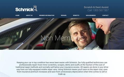Screenshot of Pricing Page schmickclub.com - Schmick Car Care Club   Car Scratch and Scrapes price guide - captured Feb. 4, 2016