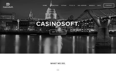 Screenshot of Home Page casinosoftusa.com - CasinoSoft. - captured Sept. 27, 2018
