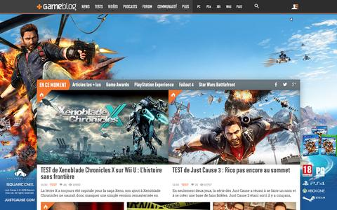 Screenshot of Home Page gameblog.fr - GAMEBLOG.FR : Jeux vidéo PC et Consoles en live - captured Dec. 2, 2015