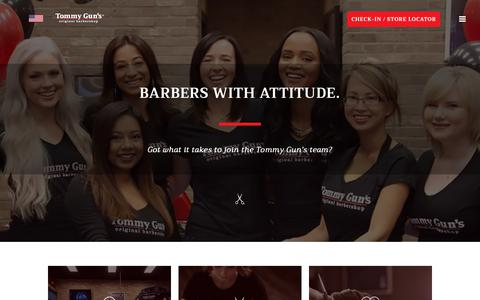 Screenshot of Jobs Page tommyguns.com - Careers – Tommy Gun's Original Barbershop - captured Nov. 16, 2018