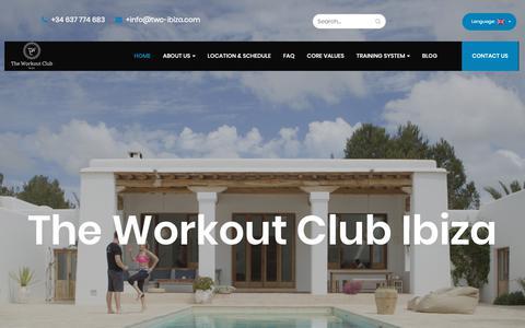 Screenshot of Home Page twc-ibiza.com - Home - TWC Ibiza - captured Oct. 22, 2018
