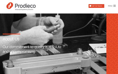 Screenshot of About Page prodieco.com - About Us - Prodieco - captured Sept. 25, 2018