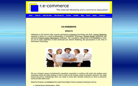 Screenshot of About Page e-commercespecialists.com - Specialists in e-commerce Solutions - r.e-commerce Consultancy Swansea UK - Search Engine Optimisation SEO Experts - Specialist Internet Marketing Web Design Consultants - captured Oct. 1, 2014