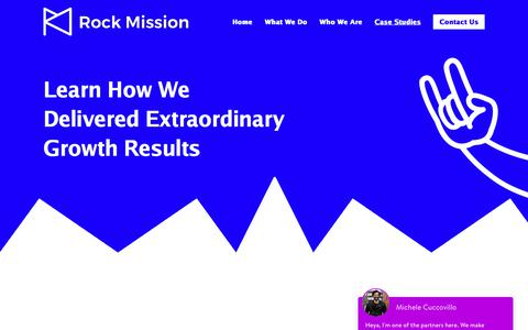 Screenshot of Case Studies Page rockmission.co.uk - Growth Case Studies | Rock Mission, London's Leading Growth Agency - captured July 11, 2018