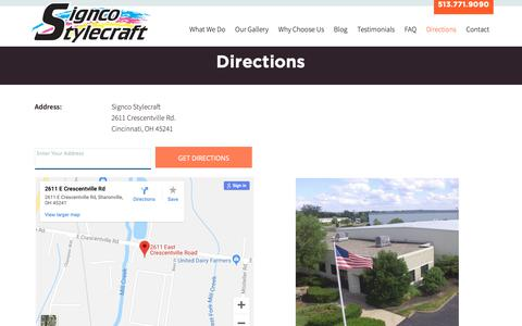 Screenshot of Maps & Directions Page signcoscreenprinting.com - Sign Co Screen Printing - Directions - captured Oct. 2, 2018