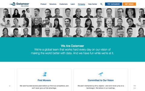 Screenshot of Jobs Page datameer.com - Big Data Careers, Hadoop Careers - Datameer - captured May 9, 2017