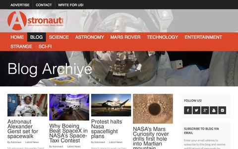 Screenshot of Blog astronaut.com - Blog - Astronaut.com - captured Oct. 4, 2014