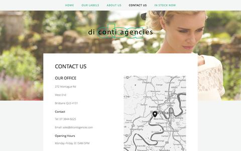 Screenshot of Contact Page dicontiagencies.com - Contact Us — Di Conti Agencies - captured Sept. 30, 2014