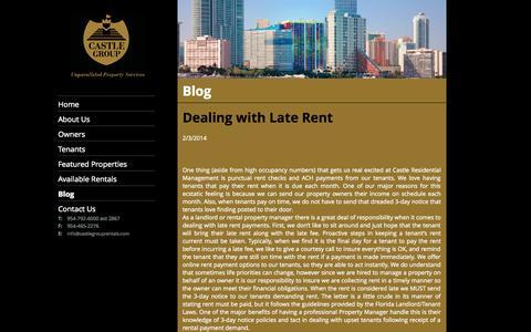 Screenshot of Blog castlegrouprentals.com - Castle Residential   Fort Lauderdale, Boyton Beach, Miami, Broward, West Palm Beach   Our Blog - captured Oct. 2, 2014