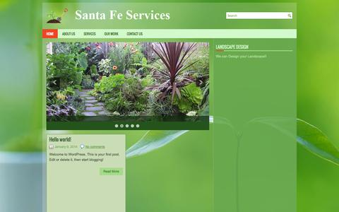 Screenshot of Home Page santafeservicesinc.com - Santa Fe Services Inc | Your one stop for all Landscaping Needs - captured Sept. 30, 2014