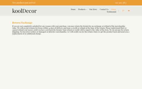 Screenshot of Terms Page kooldecor.com - Terms & Conditions | Ethnic, Ethiopian Home Decoration and Personal Accessories - captured Aug. 9, 2016