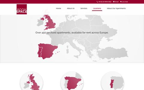 Screenshot of Locations Page roomspace.com - Roomspace | Apartment Locations | Serviced Apartments - captured June 15, 2017