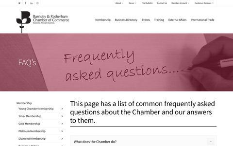 Screenshot of FAQ Page brchamber.co.uk - FAQ's - BR Chamber - captured Nov. 9, 2018