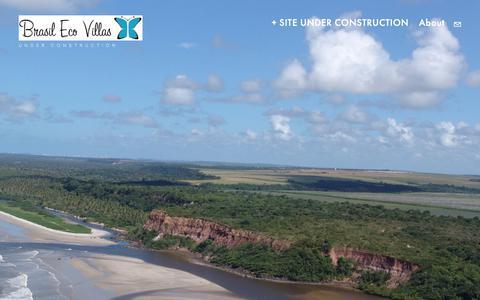 Screenshot of Home Page brasilecovillas.com - BRASIL ECO VILLAS - captured Nov. 6, 2018