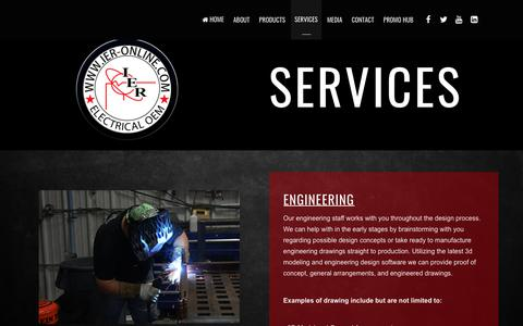 Screenshot of Services Page ier-online.com - Services – IER Electrical OEM - captured May 13, 2018