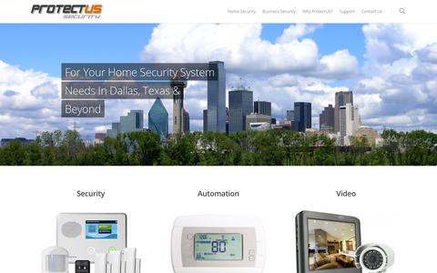 Screenshot of Home Page protectussecurity.com - Dallas Home Security Systems Dallas Companies - Alarm systems, Security Cameras Dallas - captured July 18, 2016