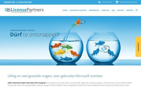 Screenshot of FAQ Page licensepartners.nl - Hoe werkt het? - License Partners ® - captured May 15, 2017