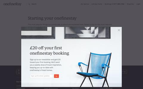 Screenshot of FAQ Page onefinestay.com - Frequently Asked Questions - captured Dec. 10, 2016