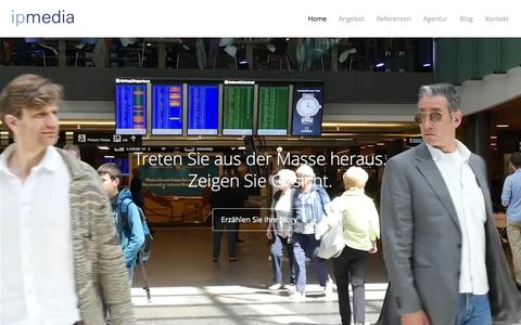 Screenshot of Home Page ipmedia.ch - ipmedia AG – Video Content Marketing - captured Sept. 7, 2015