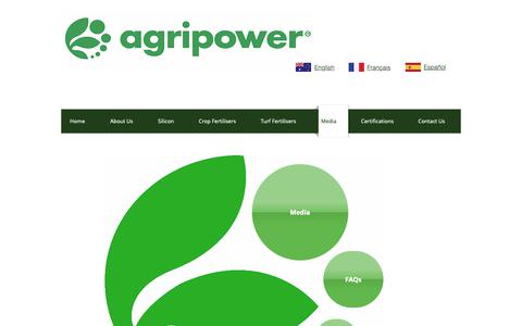 Screenshot of Press Page agripower.com.au - Agripower | Silicon Fertilisers | Media Section - captured Oct. 3, 2018