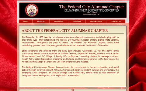 Screenshot of About Page thefcacdst.org - FCAC, Federal City Alumnae Chapter- Delta Sigma Theta | ABOUT US - captured Dec. 1, 2016