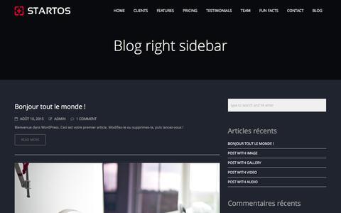 Screenshot of Blog agence-regard.com - Blog right sidebar | AGENCE REGARD - captured Dec. 22, 2015