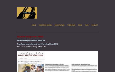 Screenshot of Press Page arcadiadesignworks.com - Arcadia designworks Press — Arcadia designworks - captured July 28, 2018