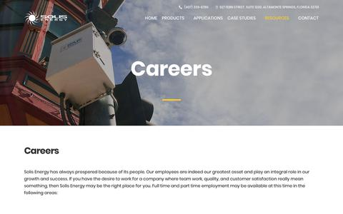 Screenshot of Jobs Page solisenergy.com - Careers - Solis Energy - captured Oct. 22, 2017