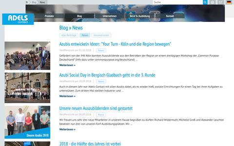 Screenshot of Press Page adels-contact.de - Adels-Contact - News - captured Dec. 18, 2018