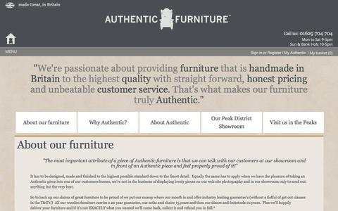 Screenshot of About Page authenticfurniture.co.uk - About us - captured Oct. 4, 2014