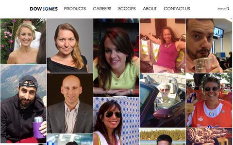 Screenshot of Products Page dowjones.com - Dow Jones – Business & Financial News, Analysis & Insight - captured Oct. 11, 2014