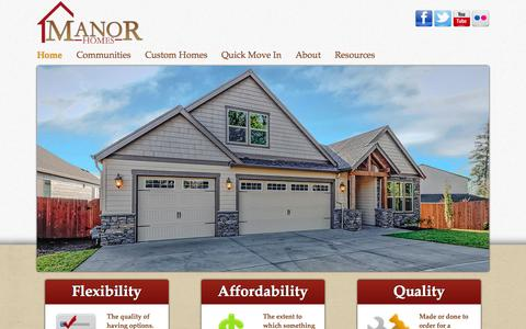 Screenshot of Home Page mymanorhome.com - Manor Homes |  Best WA, Portland and Vancouver home builders. - captured Oct. 4, 2014