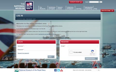 Screenshot of Login Page nmrn.org.uk - Log in | National Museum of the Royal Navy - captured Dec. 1, 2016