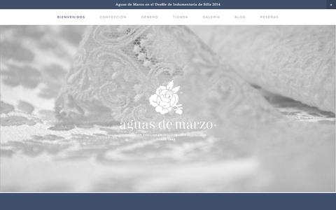 Screenshot of Home Page aguasdemarzo.com - AGUAS DE MARZO ® | Indumentaria valenciana - captured Sept. 30, 2014