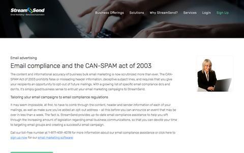 Email Compliance - StreamSend - StreamSend