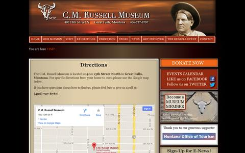 Screenshot of Maps & Directions Page cmrussell.org - Directions   cmrussell.org - captured Oct. 1, 2014