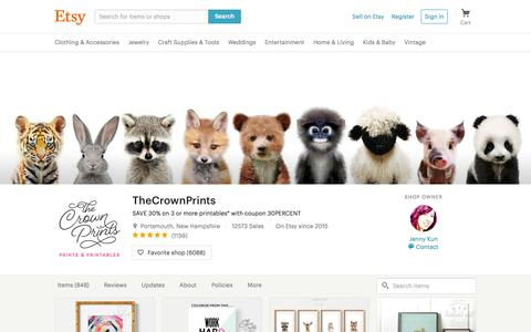 Screenshot of etsy.com - SAVE 30% on 3 or more printables with coupon by TheCrownPrints - captured Jan. 22, 2017