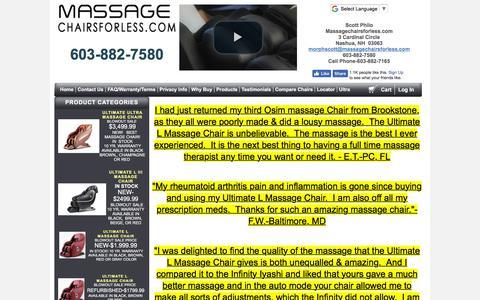 Screenshot of Testimonials Page shopathomemassagechairs.com - Testimonials On Massage Chairs - captured July 9, 2018