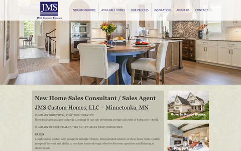 Screenshot of Jobs Page jmscustomhomes.com - Careers - JMS Custom Homes : JMS Custom Homes - captured July 3, 2018