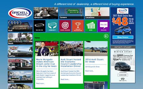 Screenshot of Press Page brickellmotors.com - Brickell Motors- About Us - captured April 24, 2018