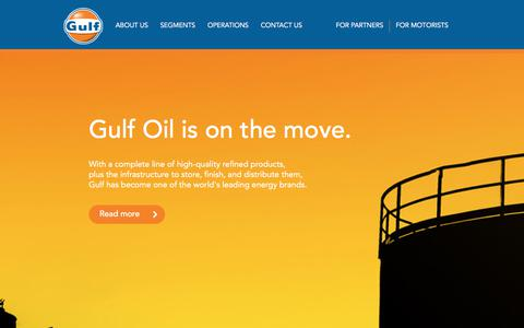 Screenshot of Home Page gulfoil.com - Welcome to Gulf Oil | Gulf Oil - captured July 25, 2018