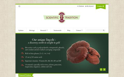 Screenshot of Home Page Privacy Page scientifictradition.com - Home - Scientific Tradition - captured Oct. 1, 2014